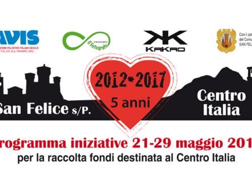 San Felice, iniziative di raccolta fondi per il Centro Italia