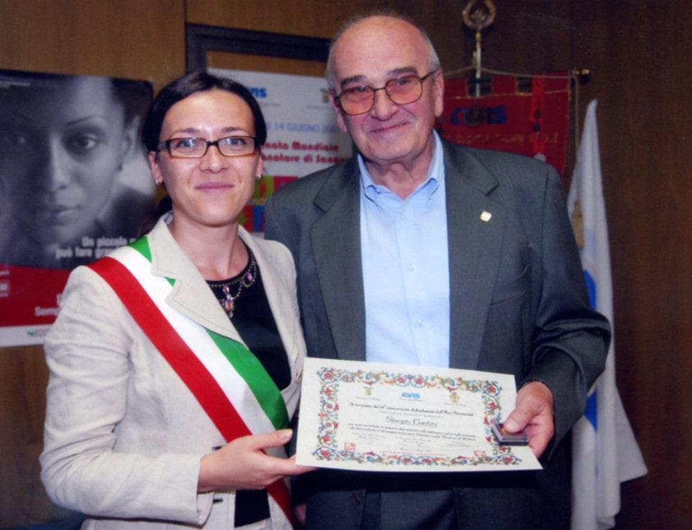 L'Avis in lutto per la scomparsa di Giorgio Contini