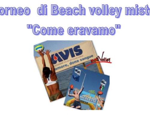 """In spiaggia a Rimini per il beach volley """"Come eravamo"""""""