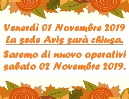 Chiusura Avis Carpi 01 novembre 2019