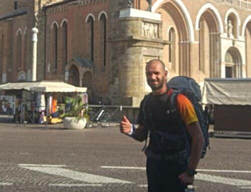 420 kilometri a piedi, l'impresa del donatore di Fanano Riccardo Turchi