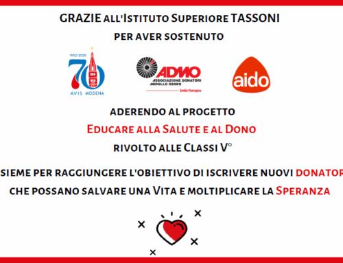 Modena, Educazione alla Salute 2020-2021